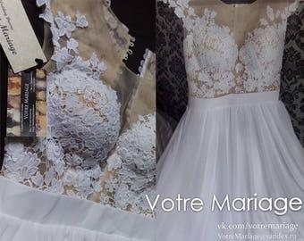 Wedding dress, lace wedding dress,chiffon wedding dres,
