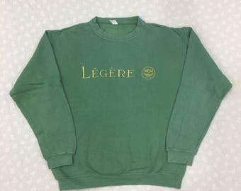 MCM Sweatshirt Green Legere MCM Jumper Pullover Small Adult