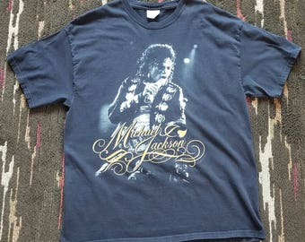Michael Jackson Vintage 90's Hanes Heavyweights T-shirt Extra Large