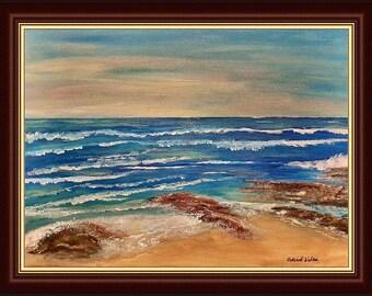 Never Forgotten - Original Painting, Whitsand Bay, Cornwall