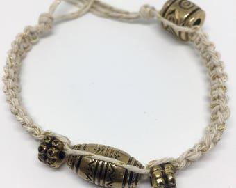 African-Style Hemp Bracelet
