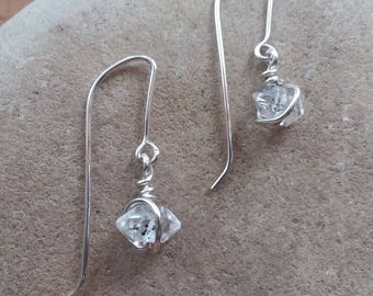 Herkimer Diamond Dangle Drop Earrings