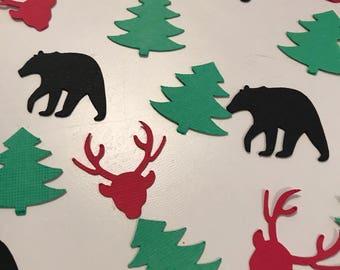 Lumberjack table or card confetti- Lumberjack baby shower, Lumberjack birthday