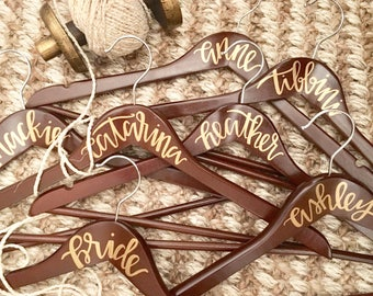 Hand Lettered Wood Hangers
