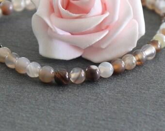 20 round agate beads 6 mm PG106 Botswana