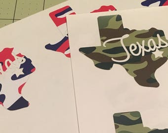 Texas Camo Decal