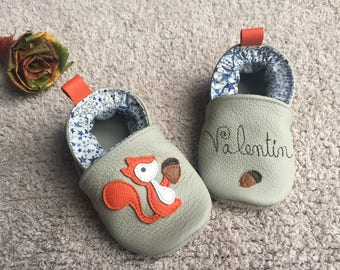 Custom leather baby shoes