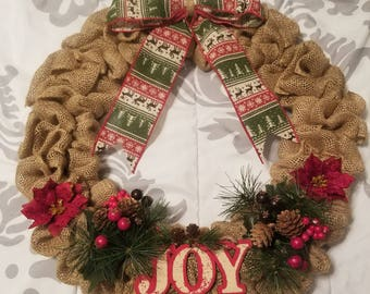 Holiday Joy Wreath