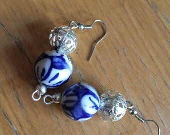Spanish tile styled earrings