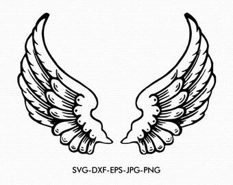 Angel wings svg, Angel wings svg, Wings svg. svg dxf for Silhouette Cameo or Cricut