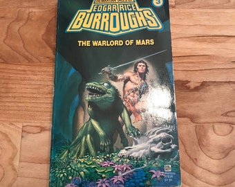 The Warlord of Mars - Edgar Rice Burroughs - John Carter - Vintage Paperback Book - Del Rey Science Fiction
