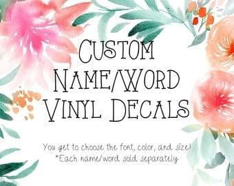 Custom Vinyl Decal Etsy - Custom vinyl stickers australia the advantages