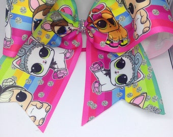 Large lol surprise pets rainbow cheer bow. Only 1 available