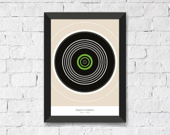 Space Invaders • Taito • 1978 - Abstract Art Print A3/A4