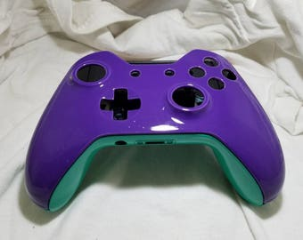 Aerospace Grade Teal and Purple Xbox One Controller Shell
