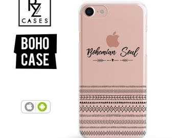 Boho Phone Case, iPhone 7 Case, iPhone 6 Case, Bohemian Soul, Love Case, iPhone 7 Plus Case, iPhone 6 plus, Samsung Galaxy, Bohemian Case