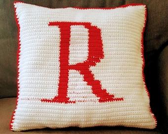 Crochet Monogram Pillow
