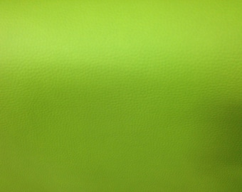 Lime green leatherette in 1.40 m wide