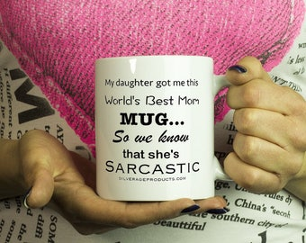 Sarcastic Daughter Motherhood Coffee Mug, Surviving Motherhood, Funny Mom Tea Cup, Mothers Day Gift Idea Bob Odenkirk Quote