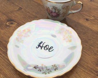 Hoe 4oz vulgar teacup and saucer