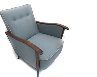 Art Deco Retro Mid Century Newly Upholstered Chairs (x2 - Price for 1) - Brighton