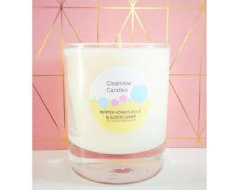 Winter Honeysuckle & Elderflower Soy Wax Natural Candle