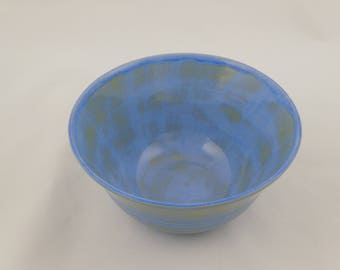 Blue & Gold Bowl -  Handmade Pottery Bowl