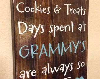 Wooden Sign For Grandma