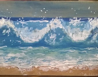 Acrylic 'Ocean Waves'
