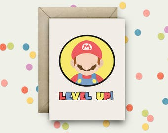 Mario Pop Art and Quote A6 Blank Greeting Card with Envelope