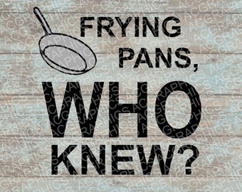 Frying Pans SVG, DXF, Jpeg, and Studio Downloads