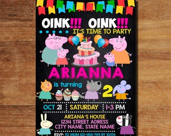 Peppa Pig Invitation, Peppa Pig Birthday Invitation, Peppa Pig Invitation Digital, Peppa Pig Party Supplies, Peppa Pig Party Invitation