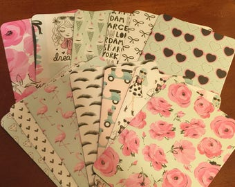 Pink Passport Pocket Folders for Traveler's Notebooks; Standard, Cahier, B6, A5, Personal, Pocket, Micro