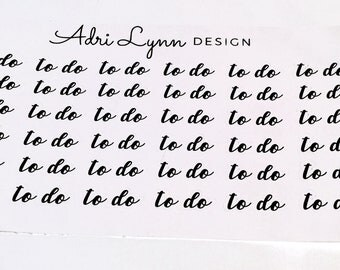 To Do Script Stickers; Planner Stickers for Traveler's Notebooks, Erin Condren, Happy planner