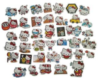 40pcs Kitty Cats stickers paper sticker decoration DIY album diary scrapbooking label sticker kawaii stationery