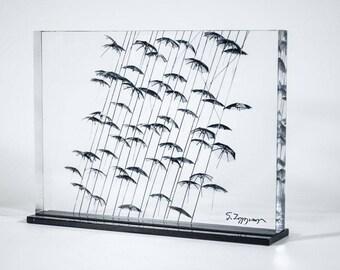 Umbrellas maquette - Thessaloniki & Psychiko (print 25x20)