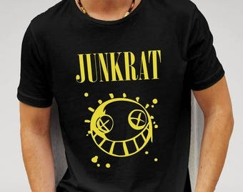 Overwatch Vs Nirvana Junkrat Parody Mens  Black T-shirt Boyfriend gift girlfriend gift valentine gift