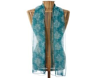 Silk Scarf,100% Silk Scarf,Floral Scarf,Rectangle Scarf,Australian Silk Scarf,Australian Scarf,Grevillea Scarf,Australian Wild Flowers