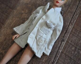 Vintage Barbie Clothes - Beige/Tan Jacket