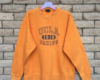 vintage!!! UCLA sweatshirt 1919 BRUINS spellout Big Logo Nice Design. Ucla vintage sweatshirt ... Size LL