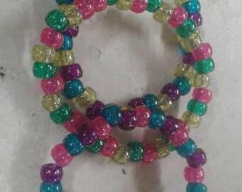 gliterred rave bracelets