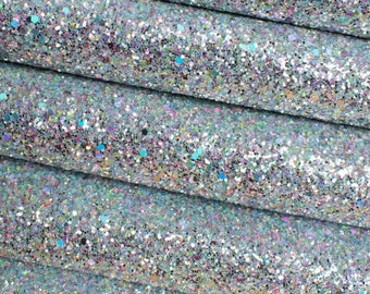 Sea Glass Premium Quality Chunky Glitter Fabric Sheet