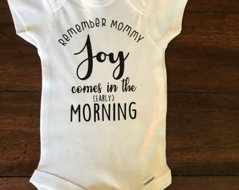Joy comes in the morning bible verse bodysuit baby