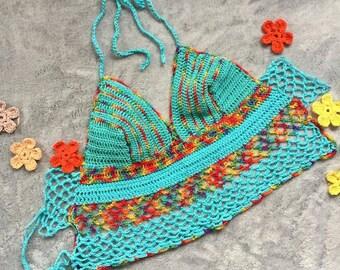 Handmade crochet cotton top