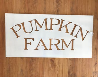 Pumpkin Farm Metal Home Decor Sign