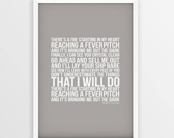 Adele Rolling In The Deep Lyrics Unframed A4 A3 Size Picture Song Print Printed