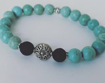 Essential Oil Diffuser Bracelet. Lava Stone Bracelet. Beaded Gemstone Diffuser Bracelet. Aromatherapy Bracelet. Gift for her.