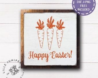 Happy Easter svg, Carrot svg, Spring svg, Easter svg, Rustic svg, Easter Sign, SVG for Signs, Farmhouse, Commercial Use, Instant Download