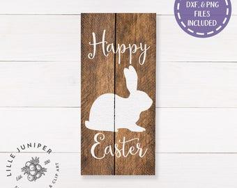 Happy Easter svg, Easter Sign svg, Rabbit svg, Bunny svg, Easter svg, Rustic svg, SVG for Signs, Farmhouse svg, Commercial Use, Digital File