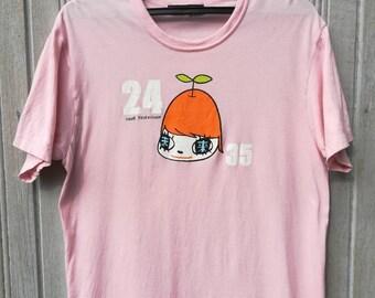 Vintage 90s 24 Hour Television Japan Cartoon T-Shirt Size L